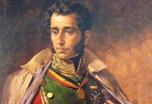 Tal día como hoy de 1795 nace Antonio José deSucre, gran mariscal de Ayacucho