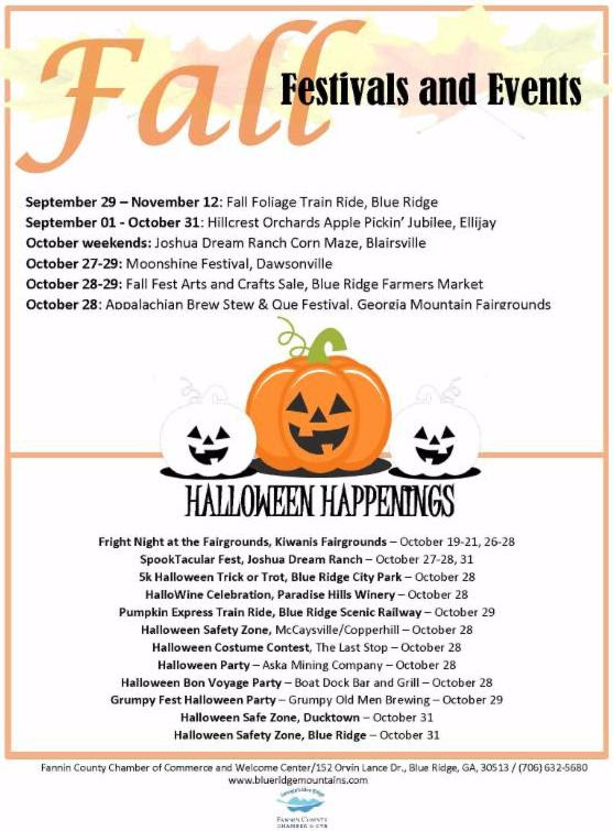 Fall Festivals and Halloween Happenings Poster