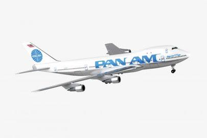 Boeing 747-100 Pan Am N747PA, 'Juan Tripp'' Billboard'