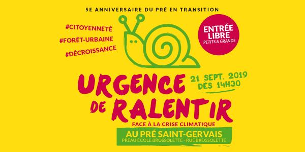 URGENCE DE RALENTIR