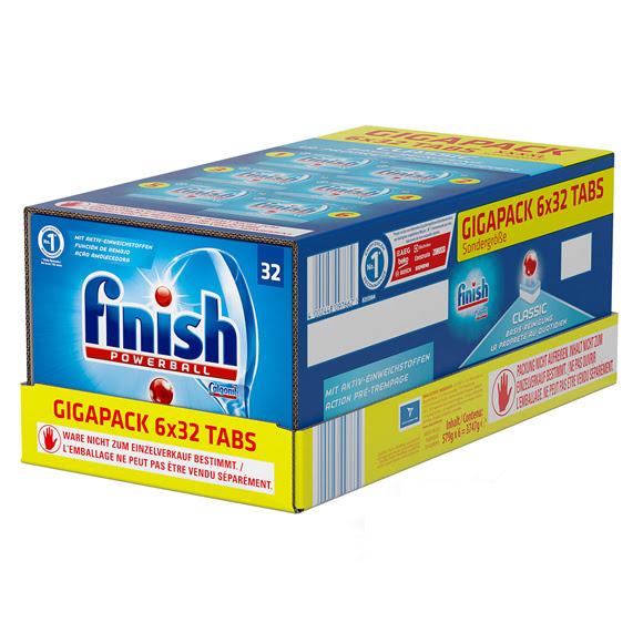 Házimunka szeretettel - Finish Classic GigaPack mosogatógép tabletta csomag, 192 db