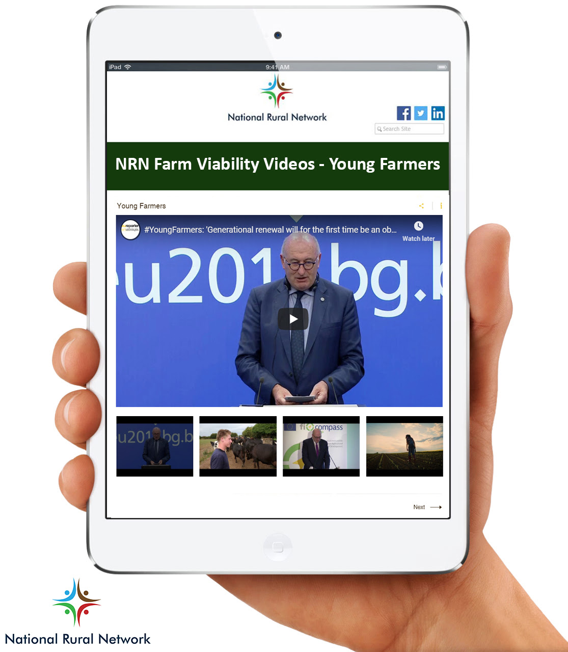 Image shows young farmer videos on NRN website