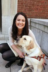 Kristin Fleschner Zoe Guide Dog