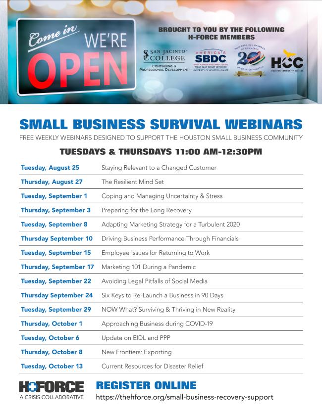 HCC - Office of Entrepreneurial Initiatives - September 2020 Newsletter 9