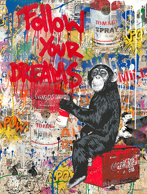 Everyday Life - opera di Mr.Brainwash in vendita presso la Galleria Deodato Arte