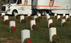 "Wreaths Across Americas ""Trucking Tributes"" Present Big G Express"