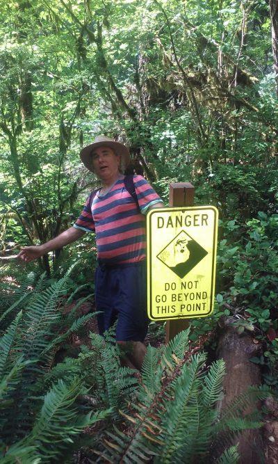 John Doan Behind Danger Sign
