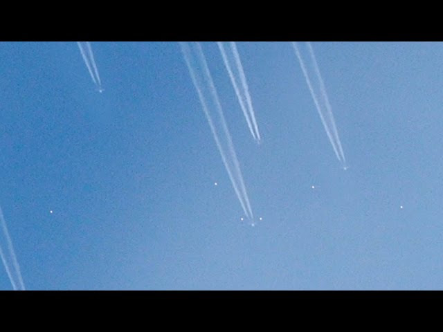 VAST CHEMTRAILS OPERATION HAS BEGUN mysterious orbs seen flying around them !!!  Sddefault