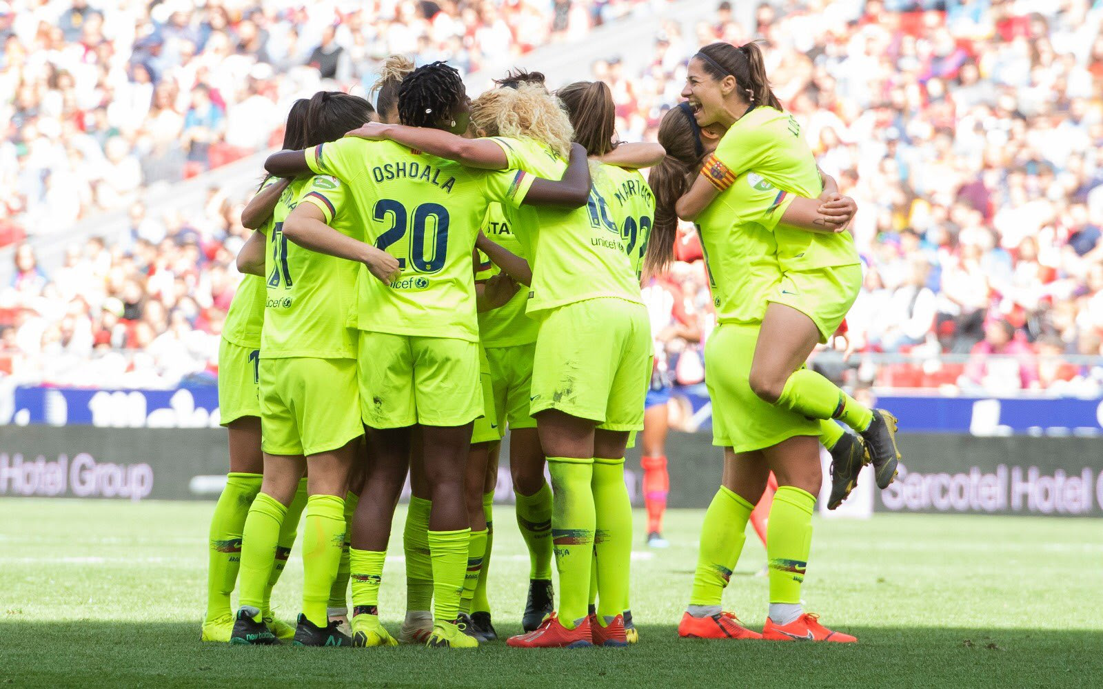 Barcelona Femeni were victorious at the Wanda Metroplitano Stadium  (Twitter / Barcelona Femeni)