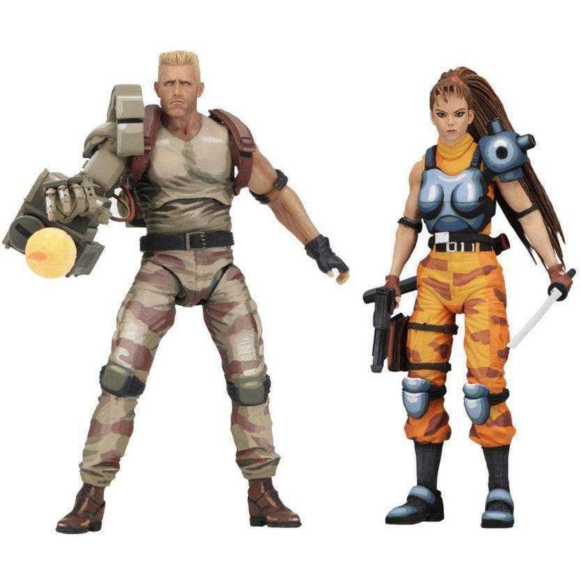 Image of Alien vs Predator Dutch Schaefer & Linn Kurosawa (Arcade Appearance) Action Figure Two Pack