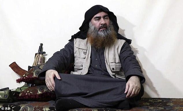 """In seinen letzten Monaten war Abu Bakr al-Baghdadi von             seiner Sicherheit besessen, bevor der brutale Anführer einst             als """"Kalif"""" gefeiert wurde (im April 2019             abgebildet)."""