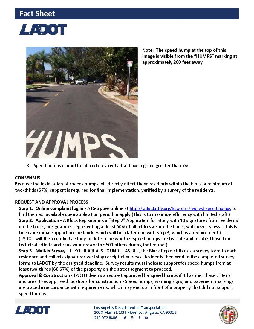 Speed Humps Info Page 2