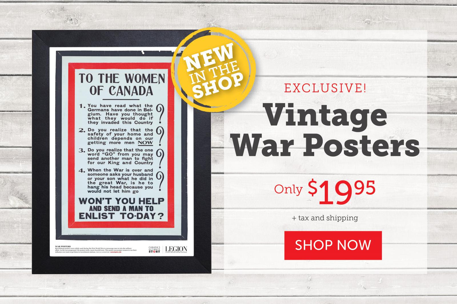 New Vintage War Posters!