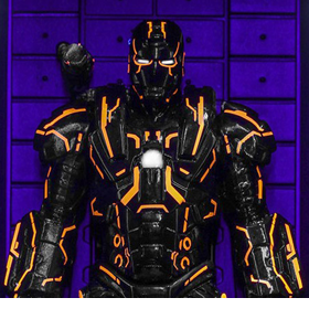 Iron Man 2 MMSC013 Neon Tech War Machine Hall of Armor Miniature Collectible