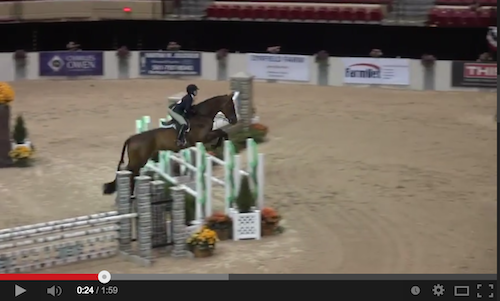 Watch Victoria Colvin's winning ride!