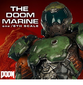 1/6 SCALE THE DOOM MARINE FIGURE