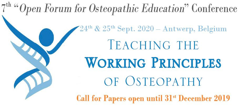 """7th """"Open Forum for Osteopathic Education"""" conference - """"Teaching the Working Principles of Osteopathy"""""""
