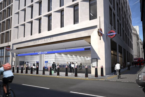 TfL Image - An image showing what the new station will look like once it is completed in 2022