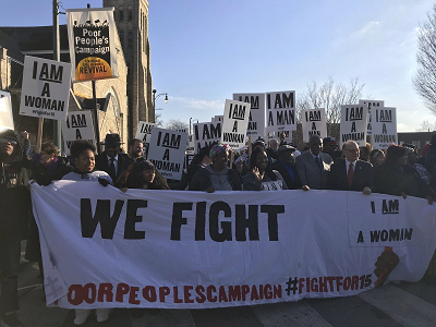 Fight for $15 march