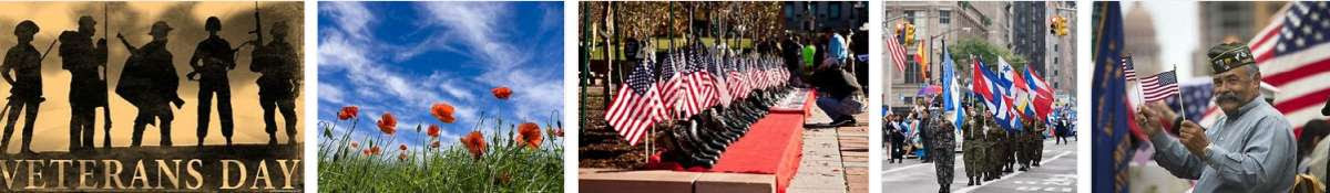 banner of Veterans Day images