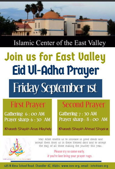 Eid ul-Adha Prayer flyer