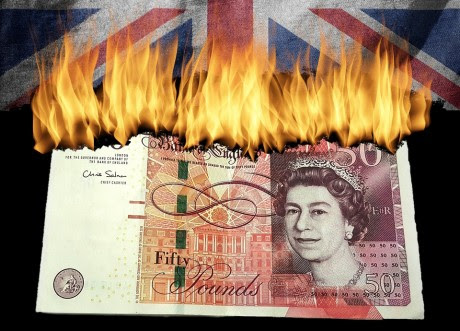 'Currency Crash' UK Pound Dives, Deutsche Bank Sinks to Lowest Level Ever