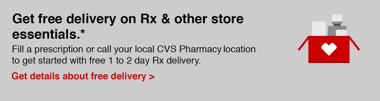 Get free delivery on Rx & other store essentials. See disclaimer.