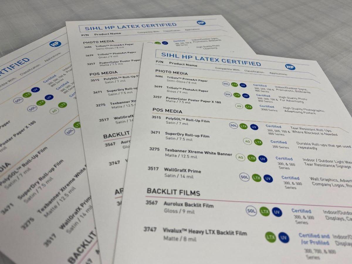 Sihl Hp Latex Media Certified Guide!