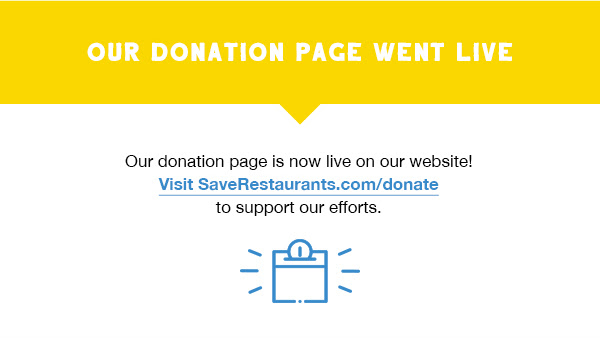 Our donation page went live
