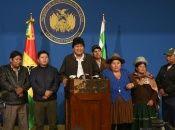 """Morales:  """"Todos tenemos la obligación de pacificar a Bolivia""""."""