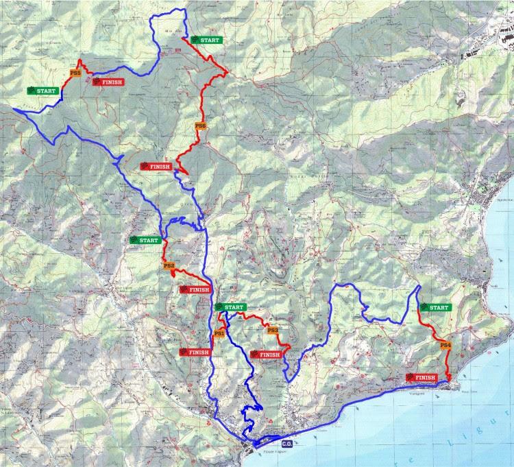 mappa dei sentieri EWS7 Superenduro Finale Ligure 2014