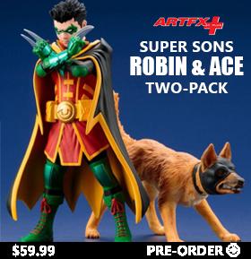DC COMICS ROBIN & ACE ARTFX+ STATUES