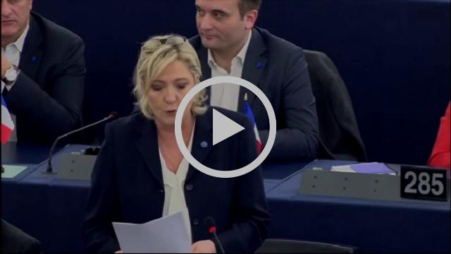 Marine Le Pen sur le traité CETA