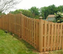 wood fencing between landowners
