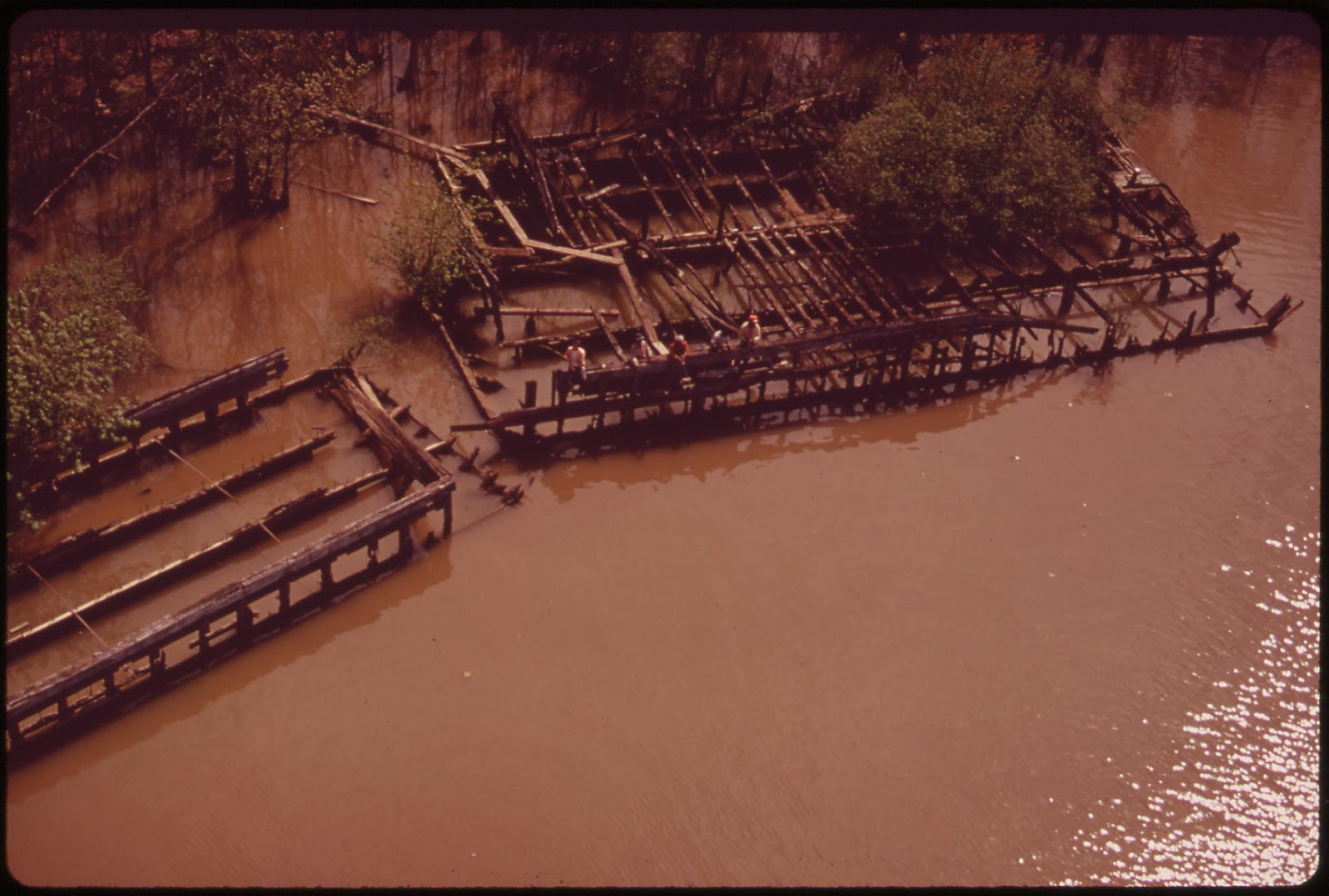 Fishing The Muddied Potomac Near Mt. Vernon, April 1973 | by The U.S. National Archives