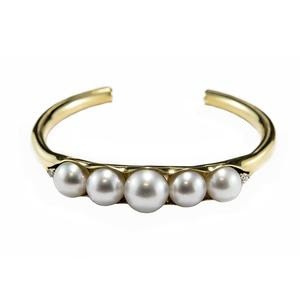 South Sea Pearl & Diamond Cuff