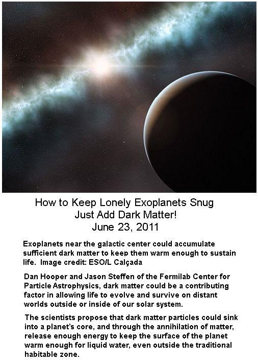 Dark matter accummulations
