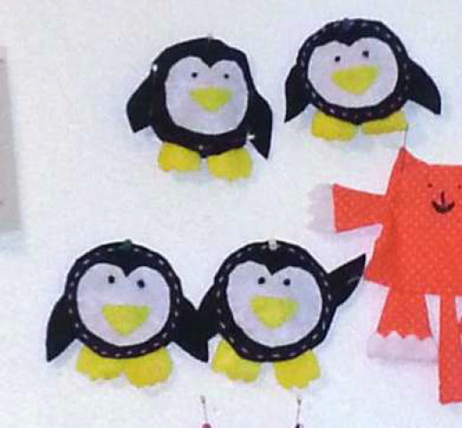 "Penguins finished, I could not resist to make some that were ""waving""!!!"