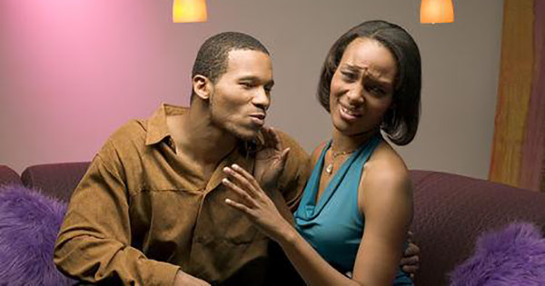Black couple with bad breath issues