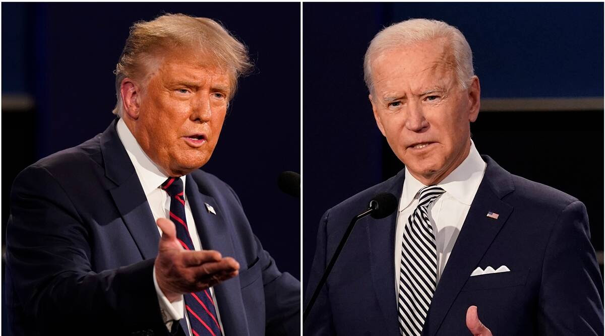 Image of Trump and Biden's debate