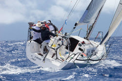 J/111 JBoss sailing St Barth regatta