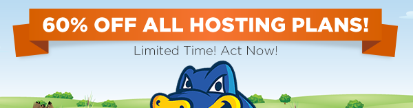 60% off Hostgator