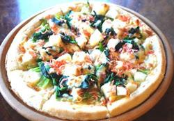春野菜のホワイトソースピザ