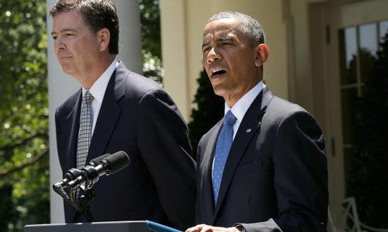 Tổng thống Hoa Kỳ Barack Obama công bố đề cử Giám đốc FBI James Comey trong một buổi lễ ở Vườn Hồng của Nhà Trắng ngày 21 tháng 6 năm 2013 tại Washington, DC. (Ảnh của Win McNamee / Getty Images)
