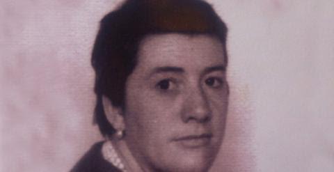 Anita Sirgo en 1962, rasurada, tras las torturas del capitán Caro.