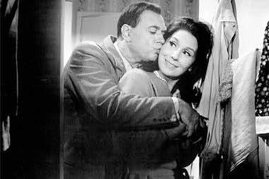 El actor con Malvina Pastorino, la actriz con la que se casó en 1952