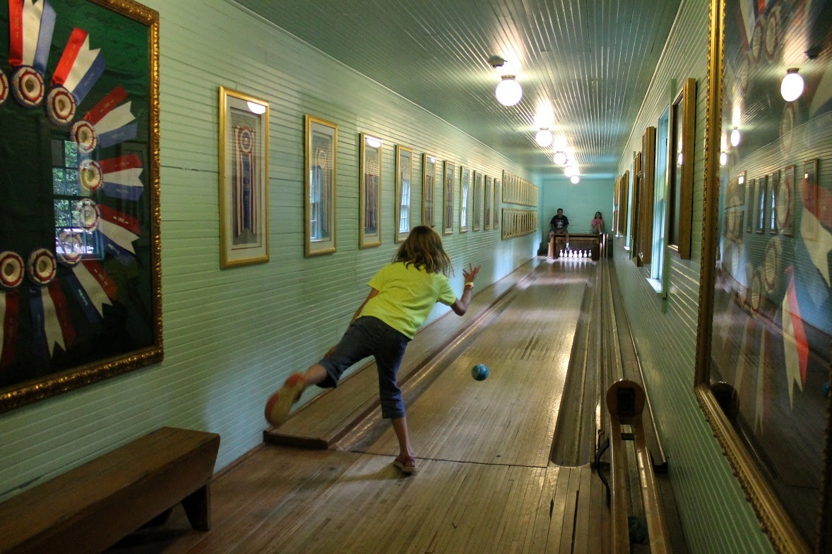 A few feet from the bar is America's oldest duck pin bowling alley, and I can't tell you how many children love to bowl a game while waiting for dinner. Speaking for our family, the grownups enjoy it just as much as the kids.