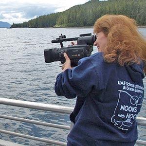 Deborah Mercy with video camera