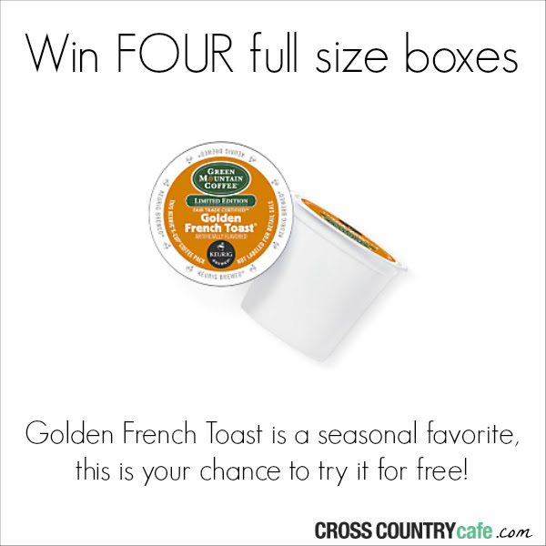 Golden French Toast Keurig K-cup coffee giveaway