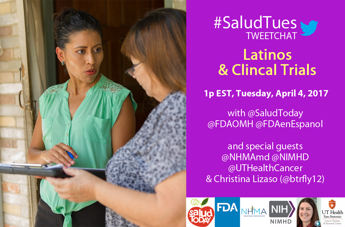 Latinos and Clinical Trials Twitter Chat Flyer
